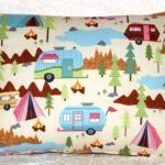 RV Camping Throw Pillow