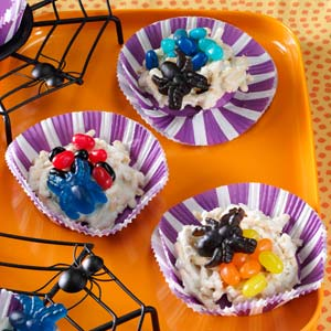 spider nest cookies for camping Halloween