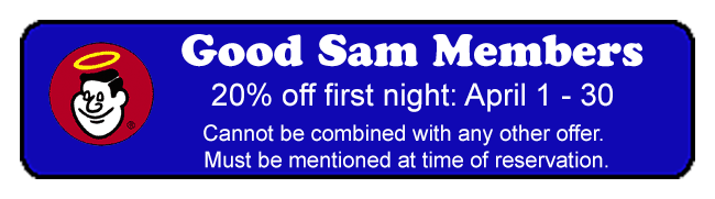 grandview offers good sam members 20% off their first night stay in April 2019